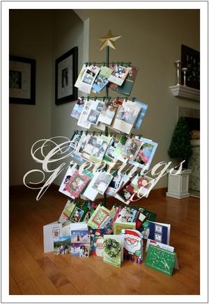 christmas card display tree credainatcon com